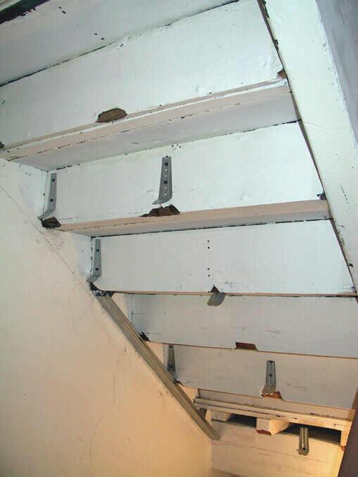 Bekannt Umbau des Speichers im vierten und fünften Stock - Im Treppenhaus CM22