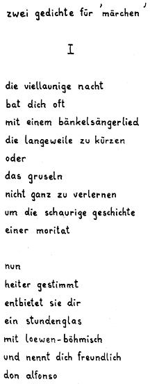 Moderne Stadt Bänkelsängerlied